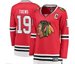 Women's Chicago Blackhawks Jonathan Toews Fanatics Branded Red Home Jersey