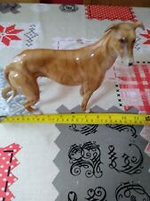 More details for beautiful brindle greyhound ornament. made by elite of england. shiny glaze