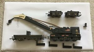 """HORNBY R6183 BR 75 TON BREAKDOWN CRANE """"DS1580"""" WEATHERED EDITION, 00, MINT"""