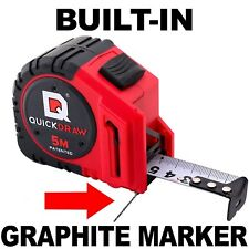 5M QUICKDRAW PRO Self Marking Tape Measure 1st Tape Measure with Built in Pencil
