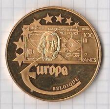 Medaille Europa 2003 polierte Platte vergoldet 22 Gramm schwer Belgique
