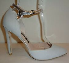 French Connection Size 9.5 MANUELA Warm Grey Silver Heels Pumps New Womens Shoes