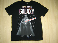 MENS STAR WARS BEST DAD IN THE GALAXY T-SHIRT SIZE LARGE BLACK NEW AND UNWORN