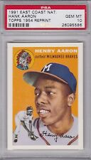 1991 Topps 1954 reprint HANK AARON  (R) (HOF) PSA 10 GEM MINT E. Co. Nat'l