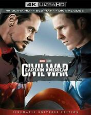 Captain America Civil War(4K UHD+BluRay+Digital) New Unopened in Plastic Package