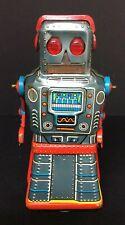 VINTAGE KO Japan Yoshiya ATOM ROBOT Wind Up Tin Toy BS