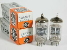 GE 12AX7 ECC83 Vintage 1982 NOS Vacuum Tube Pair #1 (matched, TV-7D tested)