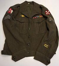 Original WWII U.S. 8th Army & 15th Army Jacket Field Wool OD M-1944 Uniform