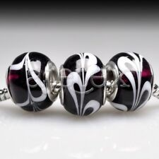 10pcs Murano Glass Round Beads Lampwork For European Bracelet Chain LB0109