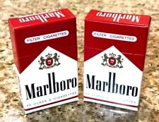 MARLBORO BOX WOOD STICK MATCHES 2 FLIP TOP BOXES RARE VERY COLLECTIBLE