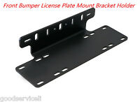 Front Bumper License Plate Mount Bracket Holder For LED  Bar, Off-Road Light
