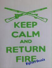 Gun Decal Keep Calm And Return Fire Rifle Car Truck Window Vinyl Sticker