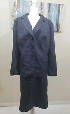 DANILLO Woman 2PC Elegant Blue Denim Like Skirt Suit Size 20w