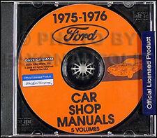 1975-1976 Ford Car and Mercury Shop Manual Set on CD Repair Service