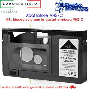 ADATTATORE VHS PER CASSETTE VHS-C AUTOMATICO HQ VHS-C ADAPTOR