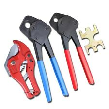 1/2 & 3/4 Pex Crimper & Cutter For Crimp Tool Clamp Tubing Plumbing Gonogo Gauge