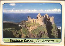 Irish Postcard DUNLUCE CASTLE Antrim Coast Northern Ireland John Hinde 2NI-204