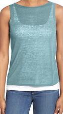 Eileen Fisher Windflower Organic Linen Crepe Knit Bateau Neck Shell Size X-Large