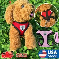 Mesh Breathable Dog Harness and Leads Pet Puppy Adjustable Leash Vest