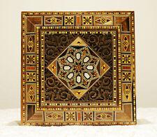 Holz Schmuckschatulle Box Kästchen Augbewahrung aus Damaskunst K 2-2-45