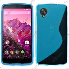 Housse Etui Coque Silicone Motif S-line Gel Souple Bleu LG Nexus 5 E980