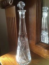 VINTAGE TALL CUT CRYSTAL GENIE BOTTLE DECANTER