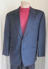 VESTIMENTA Men's Black 2 Button 100% WOOL Sport Coat Jacket 50 Reg