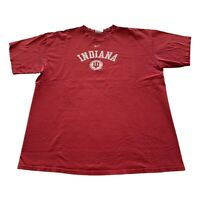 VTG 90s Nike Indiana Hoosiers IU Red Mini Center Swoosh NCAA T Shirt Men's XL