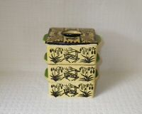 Vintage Mid Century Modern MCM Pottery Stacking Canister Set Made in Japan