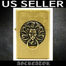 New Japan Korea zippo lighter the gate gold plated emblem engraved