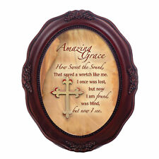 Amazing Grace, How Sweet The Sound Wavy 5x7 Oval Table Top and Wall Photo Frame