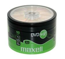 50 x Maxell DVD+R Blank Recordable Discs DVDs SHRINK WRAPPED Bulk - 50 Pack