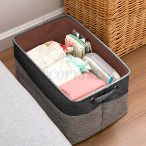 Foldable Washing Clothes Laundry Basket Toys Hamper Storage Bag Organizer Gery