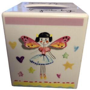 Kleenex Tissue Box Cover Holder Fairy Princess Design Girl Room Nursery Plastic