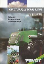 Fendt Programm Traktor u.a. Prospekt 2000 brochure Broschüre Trecker Deutschland