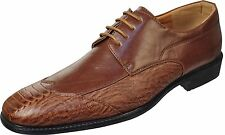 New Men Dress Shoes Coffee wi/Comfort Padded Insoles Size 9