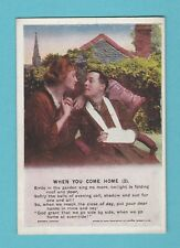 WORD WAR I  -  LENG  PAPERS  -  MINIATURE  POSTCARD  -  COME HOME  3  -  C 1915