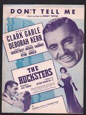 Don't Tell Me 1947 Clark Gable Deborah Kerr The Hucksters Sheet Music