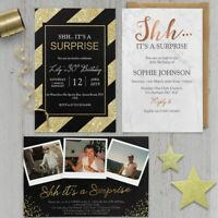 Surprise 18th 21st 30th 40th 50th 60th Birthday Invitations Personalised invites