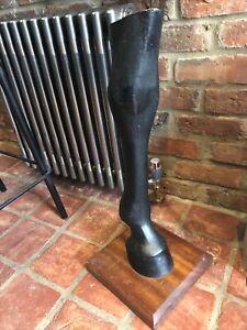 Large Vintage Quirky Horse Leg Shop Display Prop Man Cave Table Home Decor 70cm