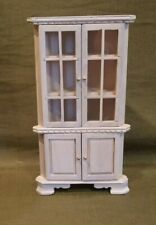 Dollhouse Miniature Corner Hutch Cabinet