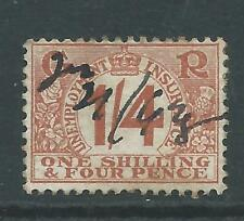 King George V  Fiscal/Revenues Stamp 1s/4d Unemployment Insurance r2545s