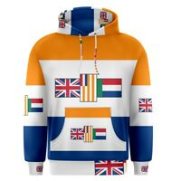 Old South Africa Flag Sublimation Men's Pullover Hoodie Size S-3XL Free Shipping