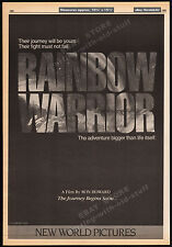 RAINBOW WARRIOR__Original 1983 Trade AD promo / poster___RON HOWARD_Greenpeace