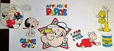 Vtg. 80's POPEYE CUT & SEW FABRIC PANEL APPLIQUE'S~1987~Comic Strip, Cartoon