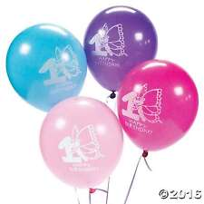 "1st Birthday Butterfly Latex Balloons, Girls Party Supplies, 10p 11"" Globos  NEW"