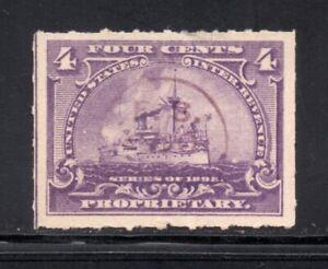 Scott # RB30, Used, VF-XF, 4¢ Battleship, Frederick Stearns & Co., Detroit, NYC
