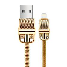 Cable USB Para IPHONE 7 6 6S Plus 5 5S IPAD 750er Oro 18 Quilates Dorado C3134
