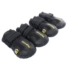 Large Dog Non Skid Shoes Snow Boots Reflective Waterproof for Husky S Black