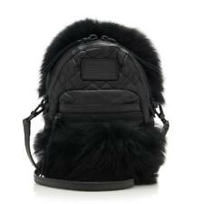 NWT MARC JACOBS Mini Domo Black Geniune Lamb Fur and Leather Crossbody Bag